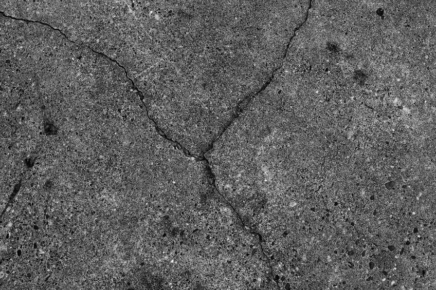 asphalt cracks